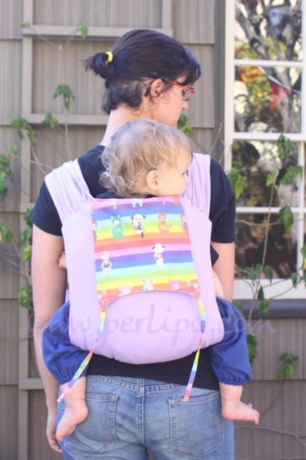 Porte bébé lilas001