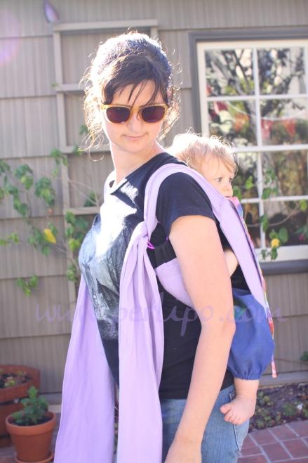 Porte bébé lilas004